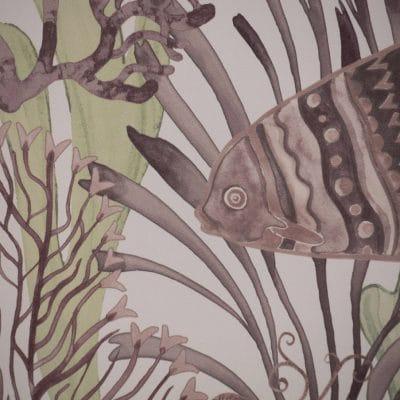 Papel pintado de estilo corales