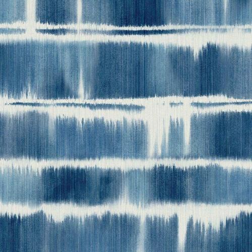 Papel pintado estilo rayas en color azul Alouette I AT50402