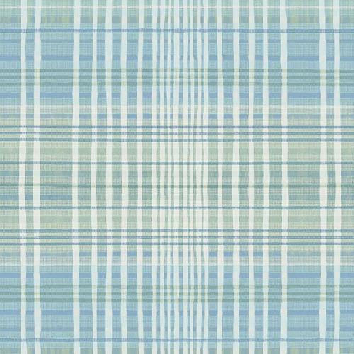 Papel pintado estilo cuadros en color azul Alouette III AT50602