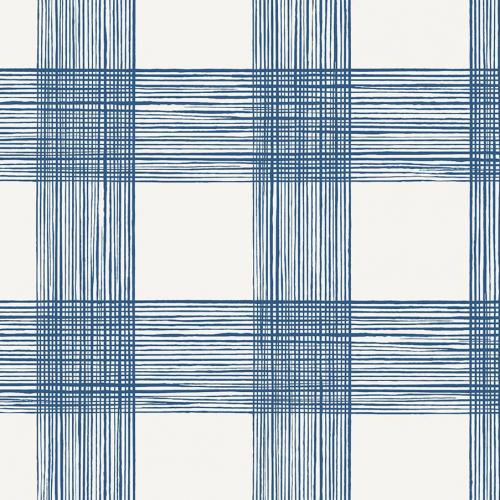Papel pintado estilo cuadros en color azul Scarborough EC80902