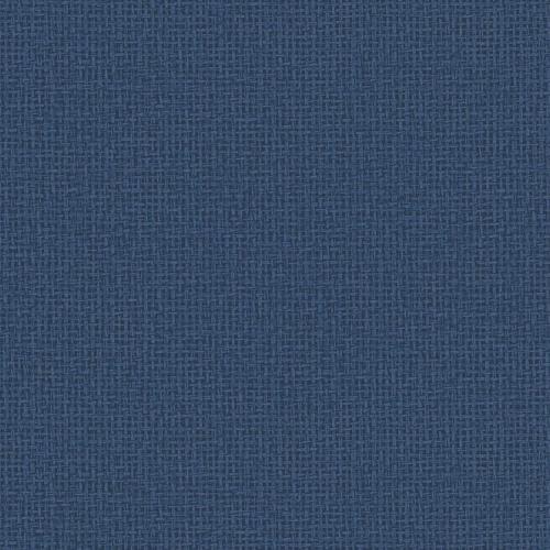 Papel pintado estilo fibra natural liso en color azul oscuro Marblehead EC81012
