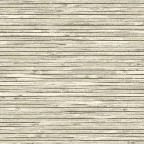 Papel pintado estilo símil fibra natural liso en color beige Bellport wooden EC81305