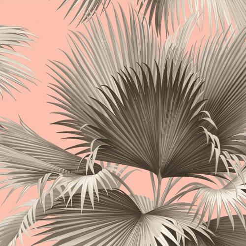 Papel pintado estilo tropical en color rosa Summer Palm EC81901
