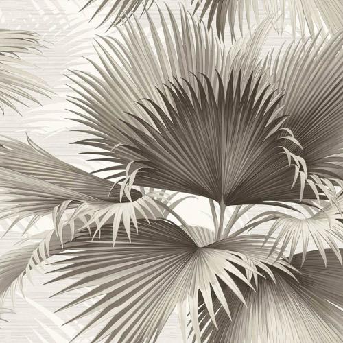 Papel pintado estilo tropical en color gris Summer Palm PC40100