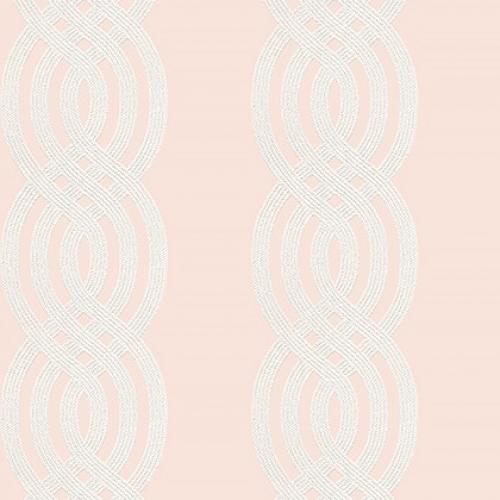 Papel pintado de estilo estampado varios en color rosa Braid T10801
