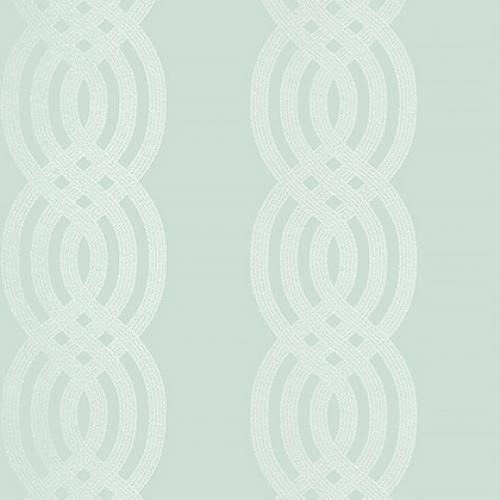 Papel pintado de estilo estampado varios en color verde Braid T10805