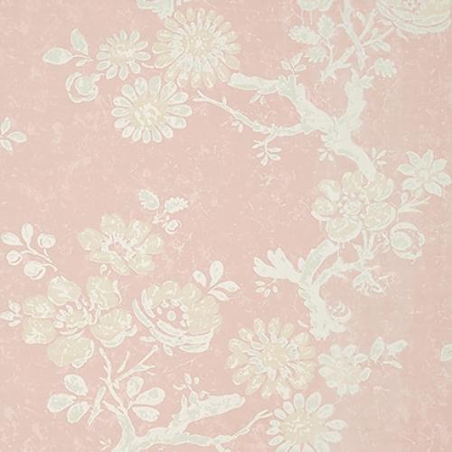 Papel pintado de estilo floral estampado en rosa Claudette T10816
