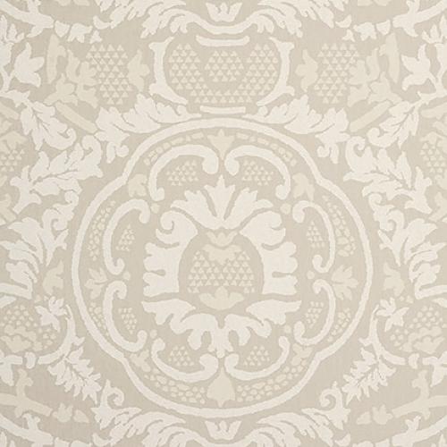 Papel pintado de estilo damasco en tonos de color beige Earl Damask T10841