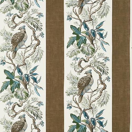 Papel pintado de estilo aves en color marrón Williamson T10862