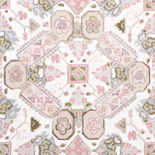 Tela de estilo estampado varios en tonos de color rosa Persian Carpet F910827