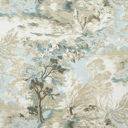 Tela de estilo escenas en tonos de color beige Lincoln Toile F910865
