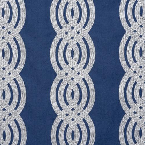 Tela de estilo estampado varios en color azul Braid Embroidery W710802