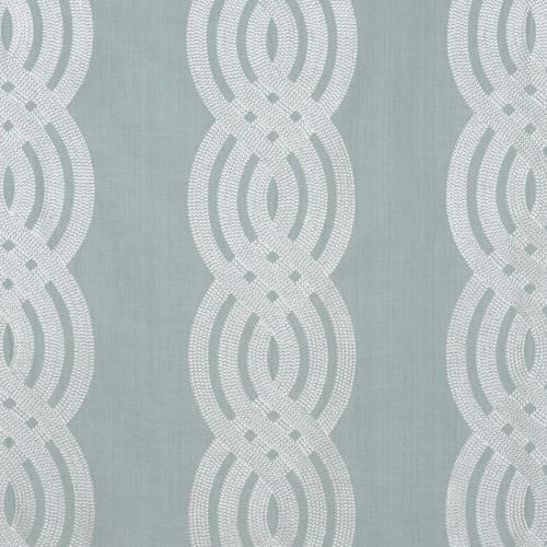 Tela de estilo estampado varios en color verde Braid Embroidery W710805