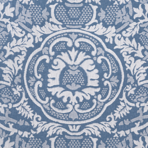 Tela de estilo damasco en color azul Earl Damask W710837