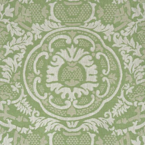Tela de estilo damasco en color verde Earl Damask W710838