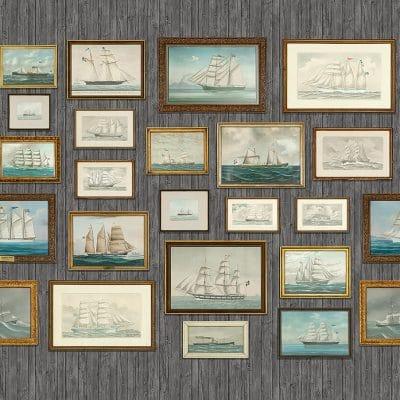 Murales de papel pintado de estilo mar y paisaje marino