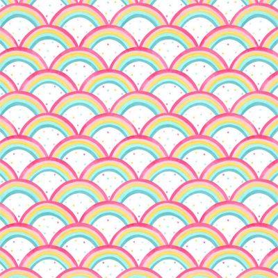 Papeles pintados de estilo arcoirís