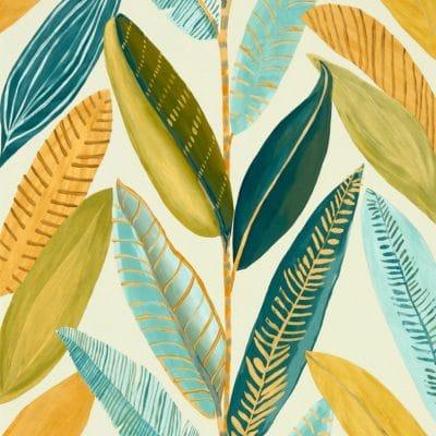 Papeles pintados estilo hojas